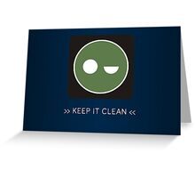 ODST Superintendent Clean Greeting Card