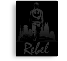 Rebel (Blackout Edition) Canvas Print