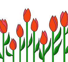 Red Tulips Design by LifeisDelicious