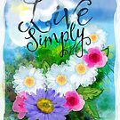 Live Simply watercolor by one8edegre