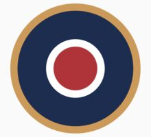 Roundel, Aircraft, Aviation, Bulls eye, Red, White, Blue, Orange, Target, by TOM HILL - Designer