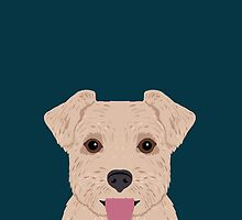 Blair - Norfolk Terrier dog art phone case perfect gift for dog person and dog people by PetFriendly