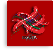 Fraser Tartan Twist Canvas Print