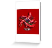 Fraser Tartan Twist Greeting Card