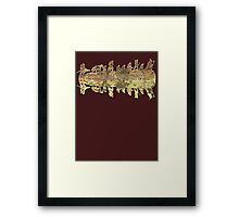 Lord of the Rings Middle Earth Map Cut out Framed Print