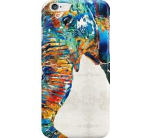 Colorful Elephant Art by Sharon Cummings iPhone Case/Skin
