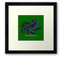 Davidson Tartan Twist Framed Print