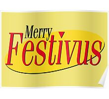 merry festivus (red) Poster