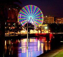 Ferris Wheel by the Yarra II by Tom Newman