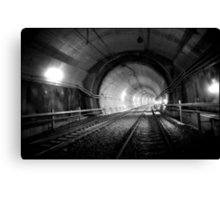 Urban Landscape # 29 Green Square Tunnel Canvas Print