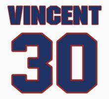 Basketball player Jay Vincent jersey 30 by imsport