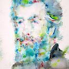 HERMAN MELVILLE - watercolor portrait by lautir