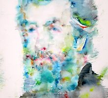 HERMAN MELVILLE - watercolor portrait by lautir