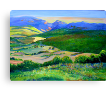Beechmont to Mt Warning  Canvas Print