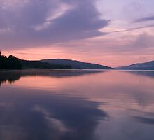 Symmetrical Sunrise, Loch Rannoch by PigleT