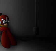Proto Man in the Dark by The-Firestorm