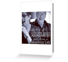 Abundant Life... with Amy Ferris and iKen Greeting Card