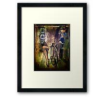 penny farthing Framed Print