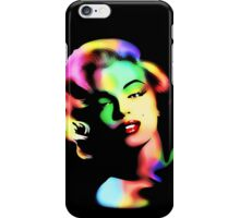 Marilyn Monroe Rainbow Colors  iPhone Case/Skin
