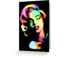 Marilyn Monroe Rainbow Colors  Greeting Card
