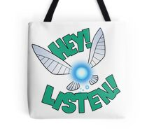 "Legend of Zelda: Ocarina of Time - Navi ""Hey! Listen!"" Tote Bag"