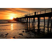 Sunset: Henley Beach Photographic Print