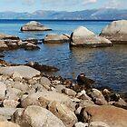 Granite Boulder Shoreline by Jared Manninen