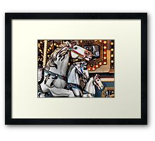 Vintage Horse Carsousel Merry-Go-Round Ride  Framed Print