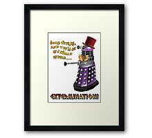 Willy Wonka Dalek Framed Print