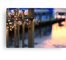 Pier Lights  Canvas Print