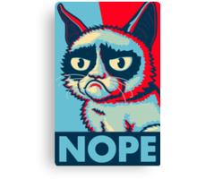 Nope Cat Canvas Print