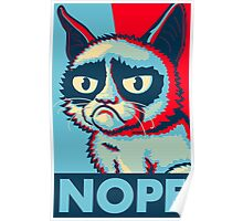 Nope Cat Poster
