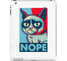 Nope Cat iPad Case/Skin