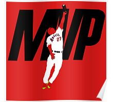 """Mike Trout """"MVP"""" Poster"""