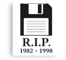 Rest in Peace RIP Floppy Disk Canvas Print