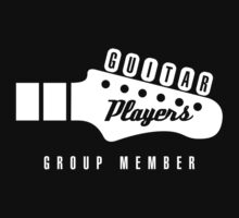 Guitar Players Group Member (white logo) by rossbubble