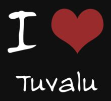 I love Heart Tuvalu Kids Clothes