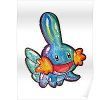 Cute Simplistic Mudkip Watercolor Tshirts + More! ' Pokemon ' Poster