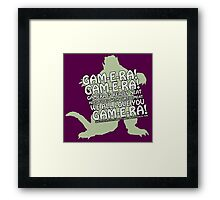 Filled with Turtle Meat Framed Print