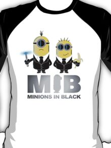 MIB: Minions In Black T-Shirt