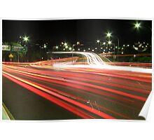 Traffic Trails Poster