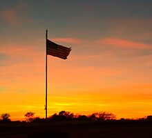 Old Glory Sunset by Danny Key