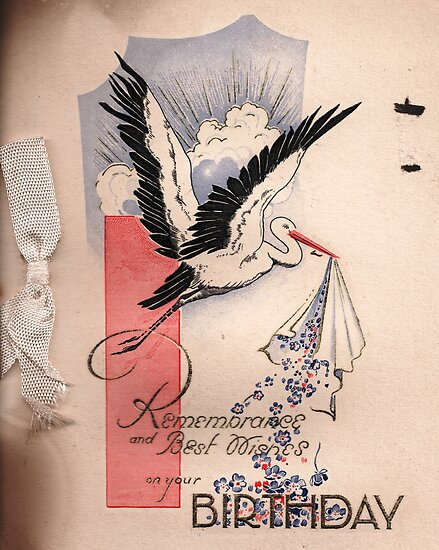 Birthday Card Cover 1932 by Patrick Ronan