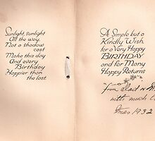 Birthday Card inlay 1932 by Patrick Ronan