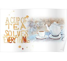 A cup of tea... Poster