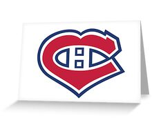 Habs in my Heart Greeting Card