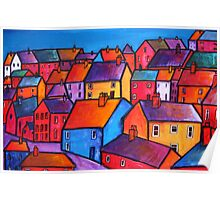 Coloured houses Poster