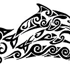 Dolphin Tribal Tattoo by Rebecca Wang