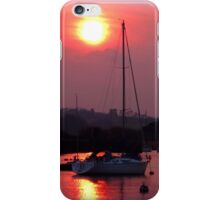 Sun Setting over Topsham Estuary iPhone Case/Skin