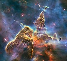 Hubble's Fantasy Mountaintops by Barry  Jones